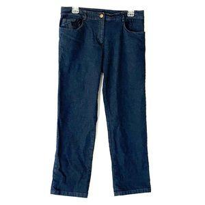 Eileen Fisher Straight Dark Denim Jeans